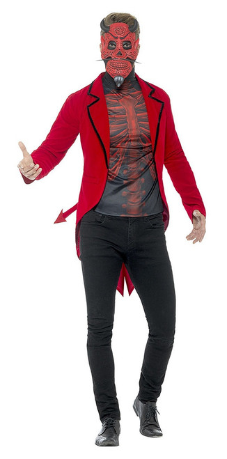 Day of the Dead Devil Man Costume