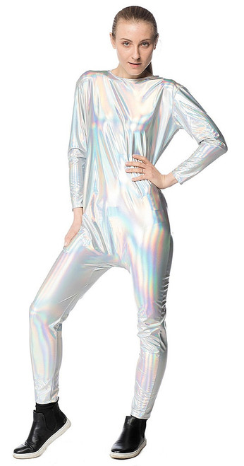 Outer Space Womens Holographic Bodysuit