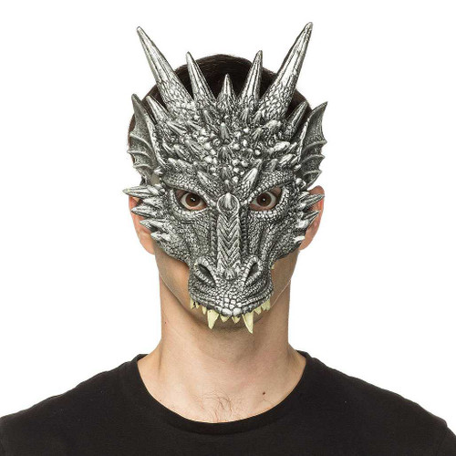 Game of Thrones Dragon Mask Silver