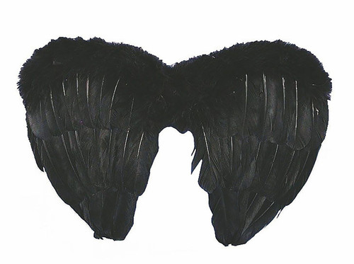 Feather Black Wings 14""
