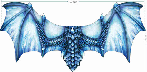 Dragon Wings Soft Feel Ice Blue 40""