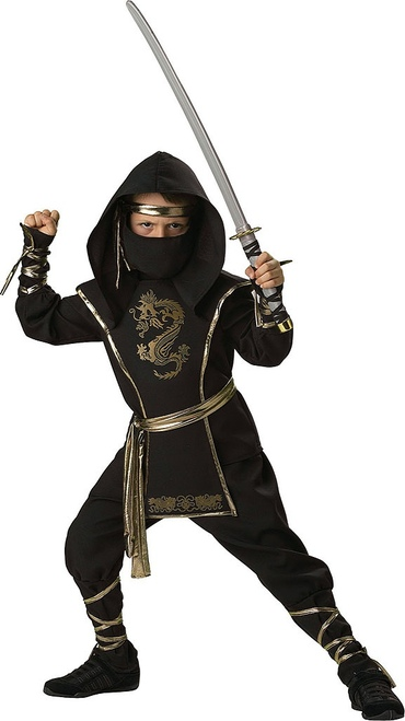Ninja Warrior Boy Costume