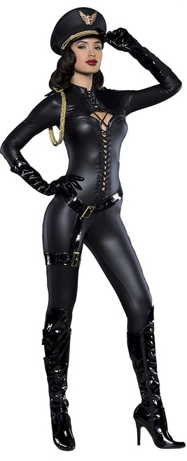 Major Lovin Black Prestige Catsuit Costume