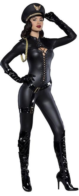 Major Lovin Black Prestige Catsuit Costume