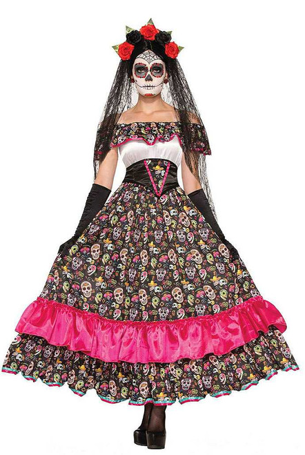 Day of the Dead Spanish Woman Costume