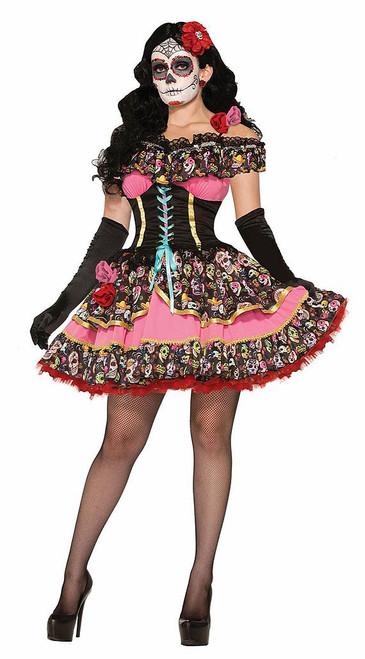 Day of Dead Senorita Woman Costume