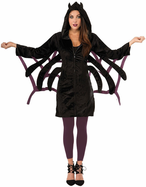 Spider Hoodie Woman Dress Costume
