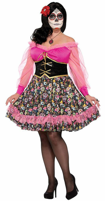 Day of the Dead Pink Woman Costume