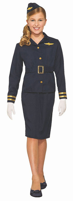 Flight Attendant Girl Costume