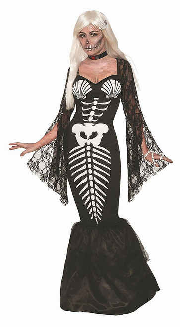 Skeleton Mermaid Woman Costume