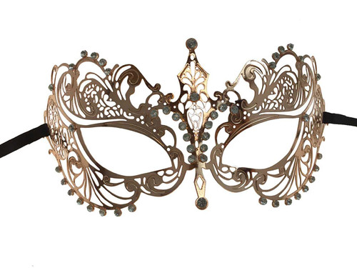 Metal Lace Look Mask Small - Rose Gold