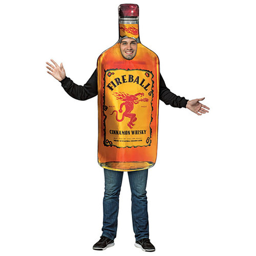 Fireball Get Real Bottle Man Costume