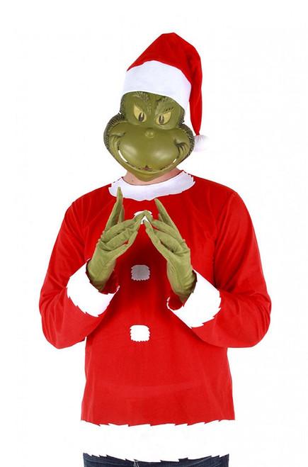 The Grinch Santa Man Costume