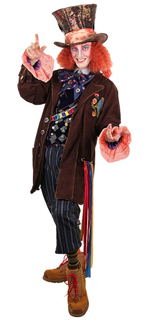Mad Hatter Tea Party Jacket Man Costume
