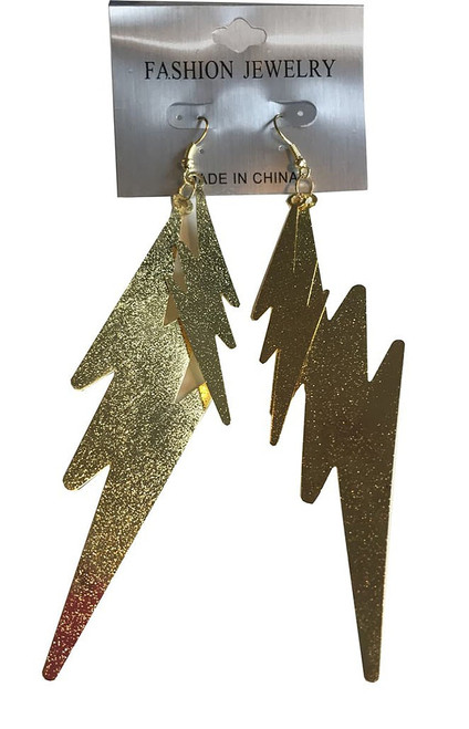 80s Gold Lightning Earrings
