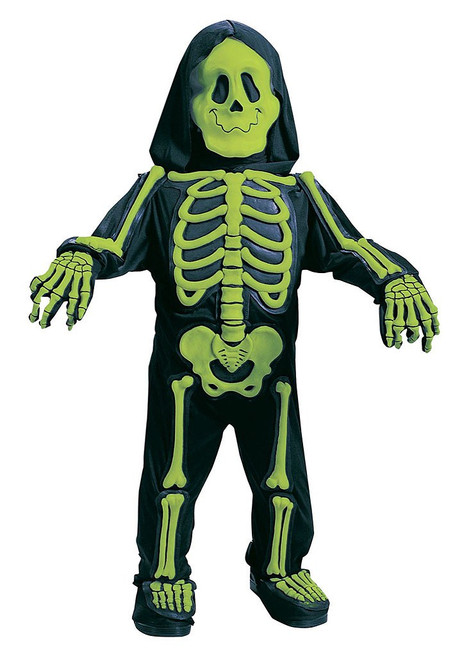 Totally Skelebones Toddler Green Costume