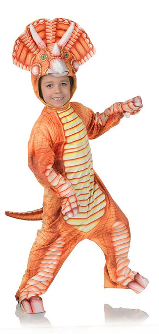 Costume Triceratops Orange Bambin