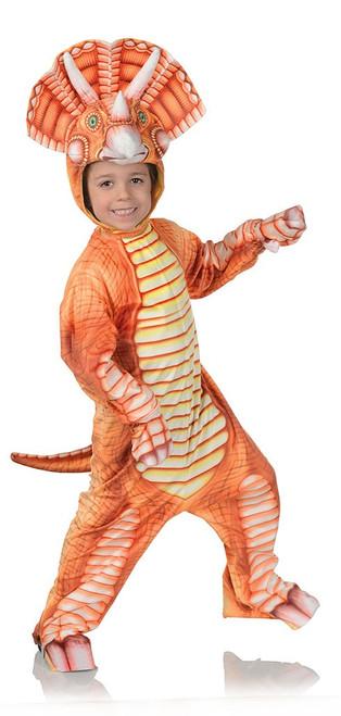 Costume Triceratops Orange Bambin