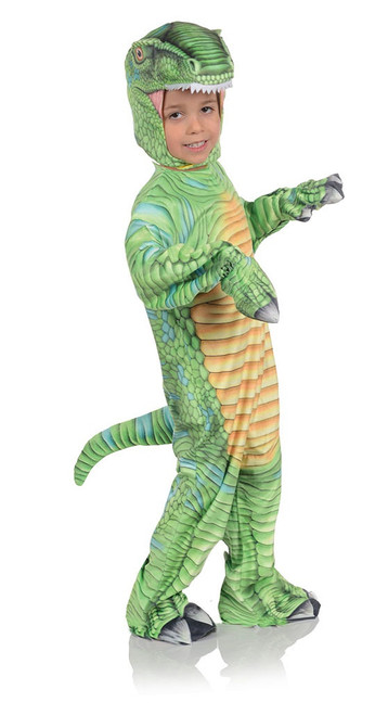 Green T-Rex Printed Animals Costume