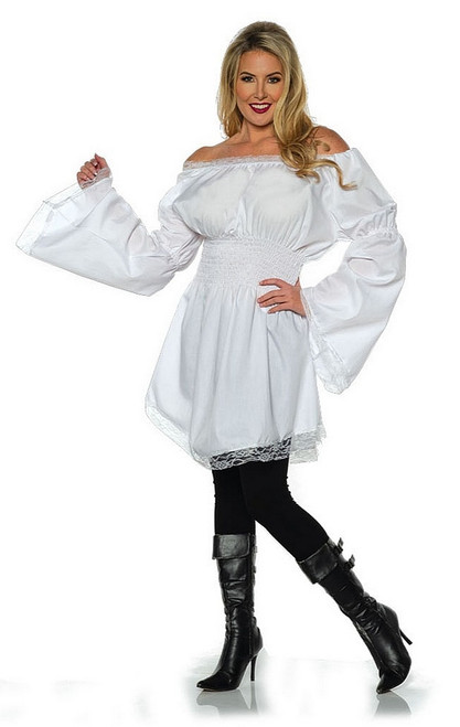 White Peasant Shirt Costume