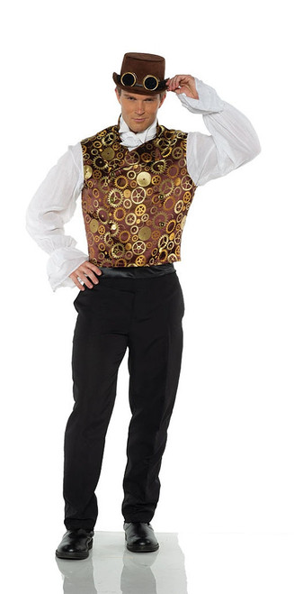 Brown Steampunk Vest Costume