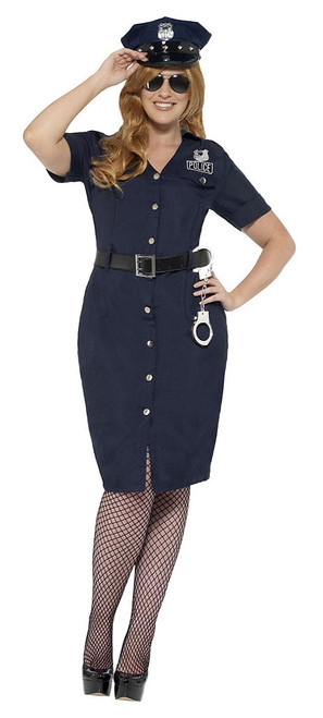 Curves NYC Cop Woman Costume