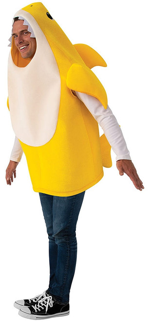 Adult Baby Shark Costume - Yellow