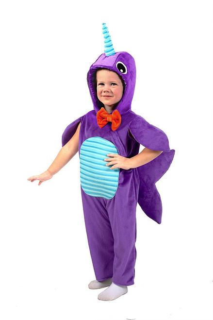 Minky Narwhal Boy Costume