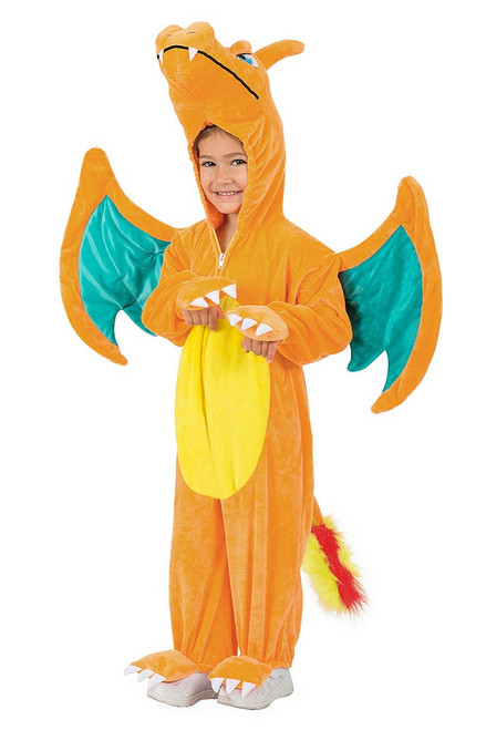 Pokemon Charizard Jumpsuit Boy Costume