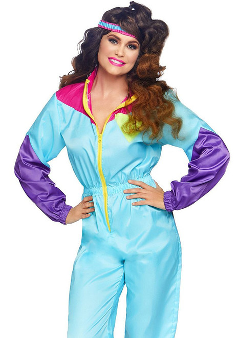 Totally Awesome 80s Ski Jumpsuit Woman Costume