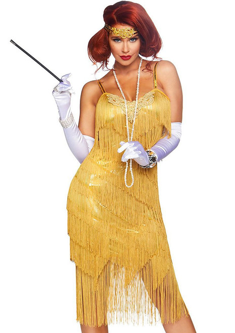 Dazzling Daisy Flapper Dress Woman Costume