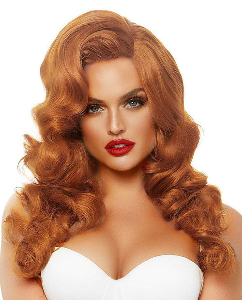 Ginger Bombshell Long Curly Wig 20""