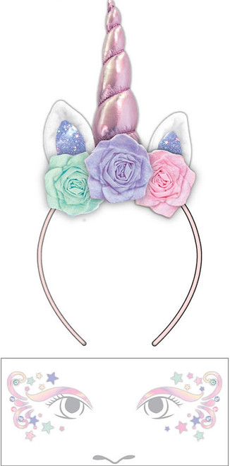 Unicorn Face Decal and Headband Set
