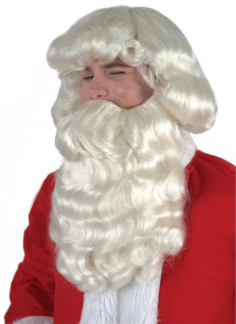 Curly Santa Wig - White