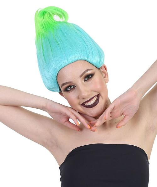 Aqua Green Troll Deluxe Wig