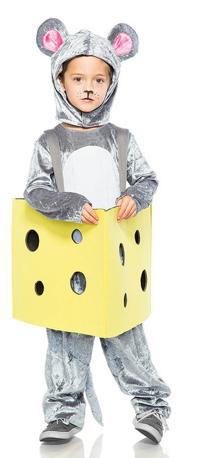 Mouse in Cheese Boy Costume
