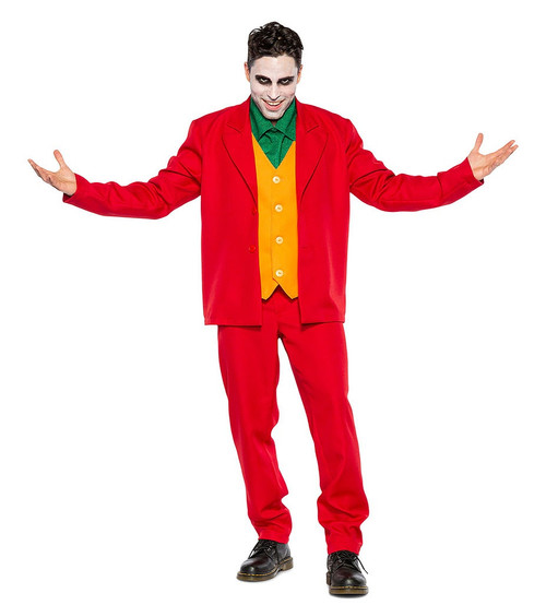 Joker Red Suit Man Costume