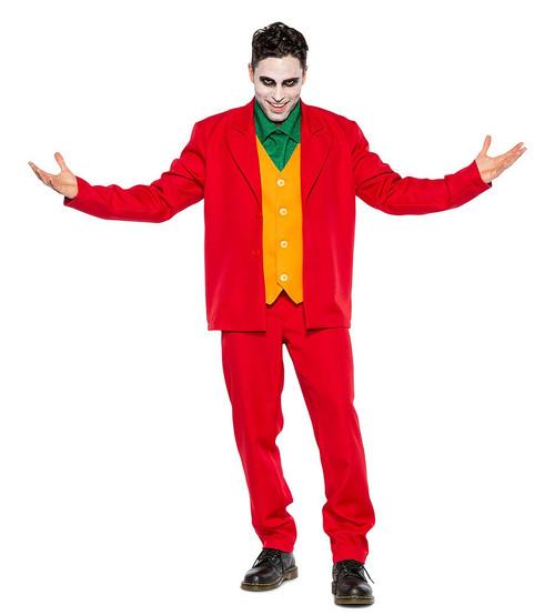 Joker Red Suit Man Costume