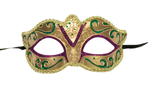 Mardi Gras Mask - Gold