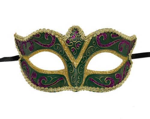 Mardi Gras Mask - Green