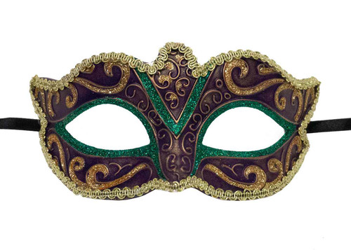 Mardi Gras Mask - Purple