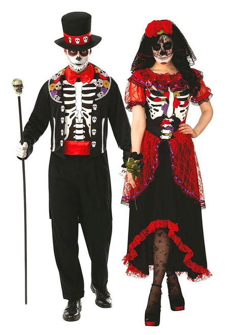 Day of the Dead Red Couple Costume