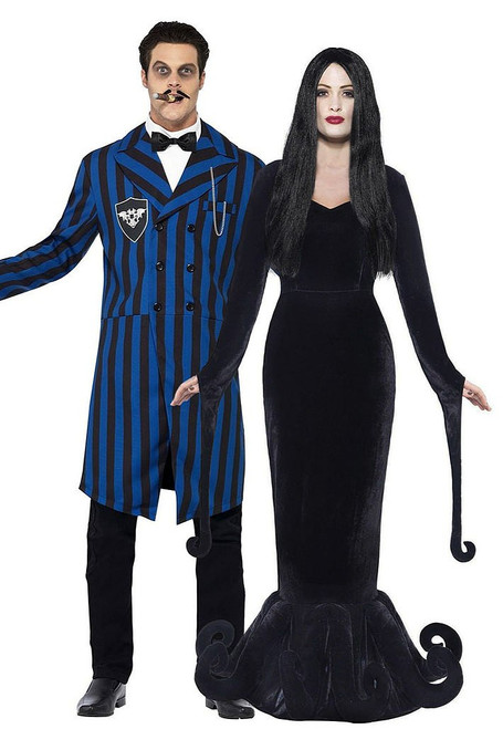 Morticia and Gomez Duchess and Duke of the Manor Couple Costume