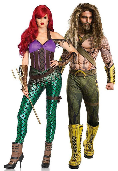 Rebel Mera and Aquaman Couple Costume