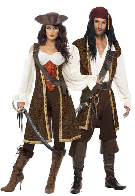 High Seas Pirate Lad and Wench Couple Costume