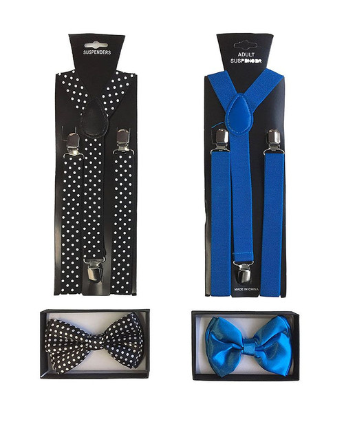 The Stylish Kit Bow Tie and Suspenders 2 Sets