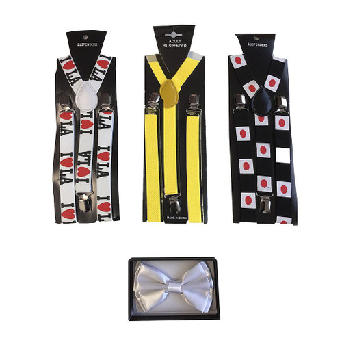 The Jet Setter Bow Tie and Suspenders Kit