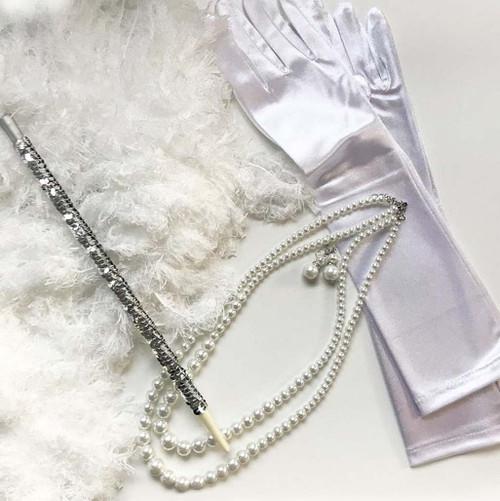 1920s Silver White Woman Kit