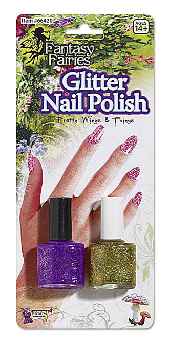 Fairy Nail Polish Purple Gold Set