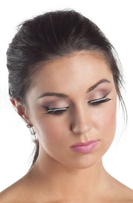 Eyelashes with Silver Glitter